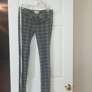 Black gray checkered Pants